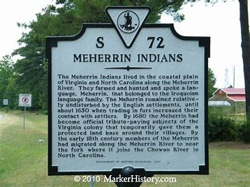 Meherrin indian recognition sign
